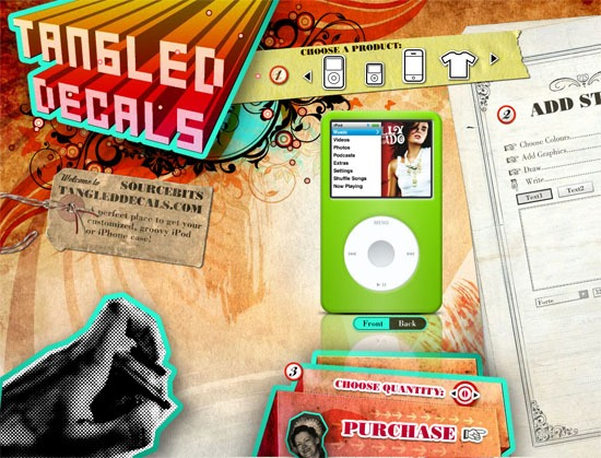 Sourcebits TangledDecals - screen shot.
