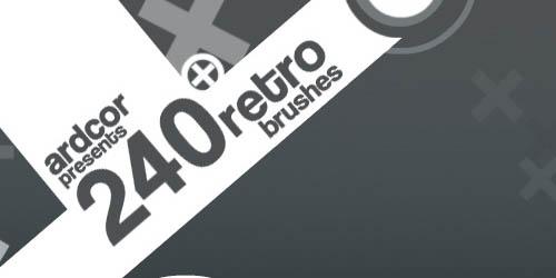 240 Retro Dynamic Brushes - screen shot.