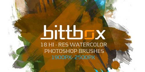 Hi-Res Watercolor Photoshop Brushes - screen shot.