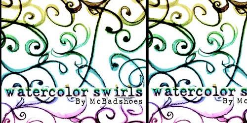 Watercolor Swirls - screen shot.