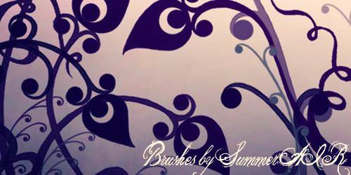 Floral Brushes - screen shot.