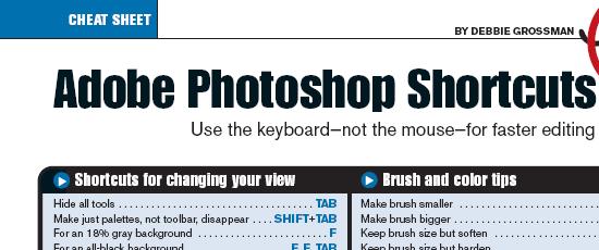 Adobe Photoshop Shortcuts - screens hot.