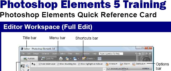Photoshop Elements 5 - screen shot.