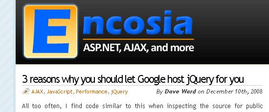 Encosia - screen shot.