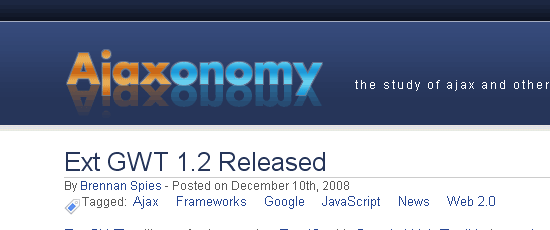 Ajaxonomy - screen shot.