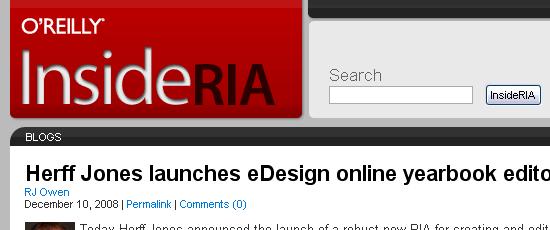 InsideRIA - screen shot.
