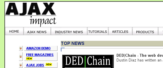 AJAX Impact - screen shot.