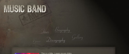 Design an Awesome Band Website Template - screen shot.