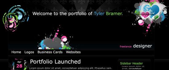 Create a Dark Themed Web Design from Scratch - screen shot.