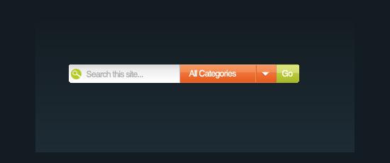 Modern Web Search Bar - screen shot.
