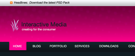 Design Studio Header - screen shot.