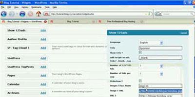 Create your first widget - screen shot.