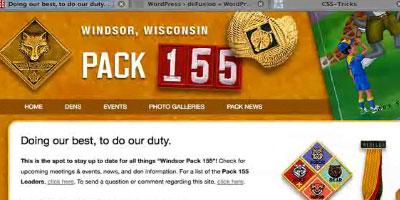 WordPress as a CMS - screen shot.