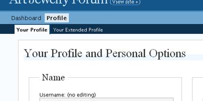 Lost Password, Update User Info - screen shot.