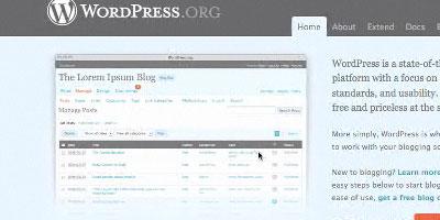 Wordpress installation and theme tutorial - screen shot.