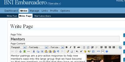 Simple Page Edit in WordPress - screen shot.