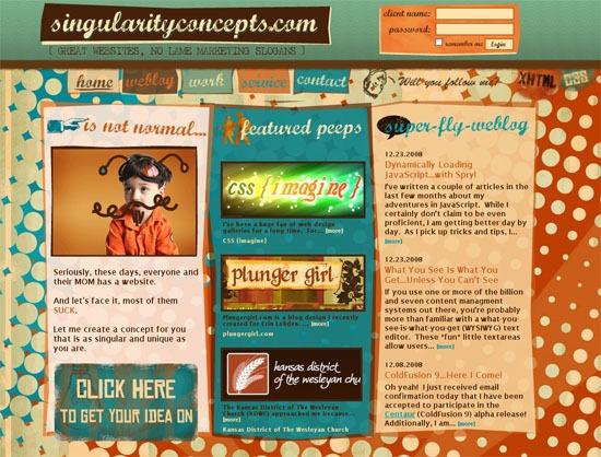 singularityconcepts.com - screen shot.