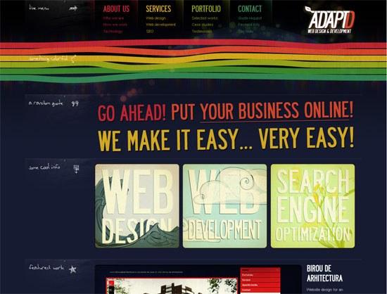 AdaptD.com - screen shot.