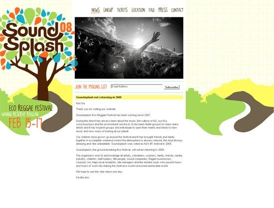 Soundsplash 08 Eco Reggae Festival - screen shot.