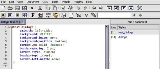 CSSED - screen shot.