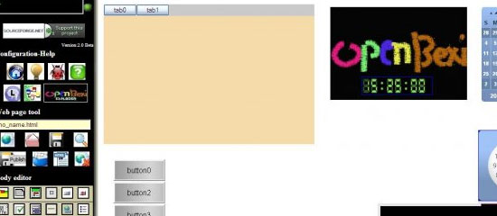 OPEN BEXI HTML Builder - screen shot.