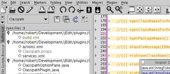 jEdit - screen shot.