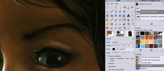GIMP - screen shot.,
