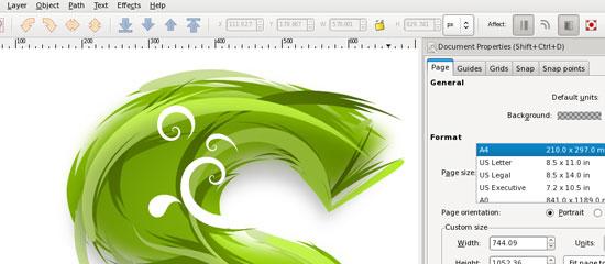 Inkscape - screen shot.
