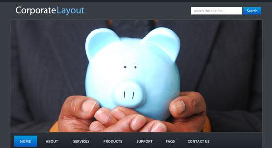 Corporate WordPress Style Layout - screen shot.