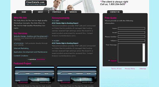 Professional Design Studio Web Template - screen shot.