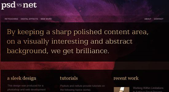 Create a Sleek, High-End Web Design - screen shot./