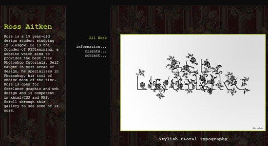 Portfolio Design Part 1 and Portfolio Design Part 2 - screen shot.