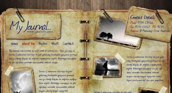 Web Design - Journal - screen shot.