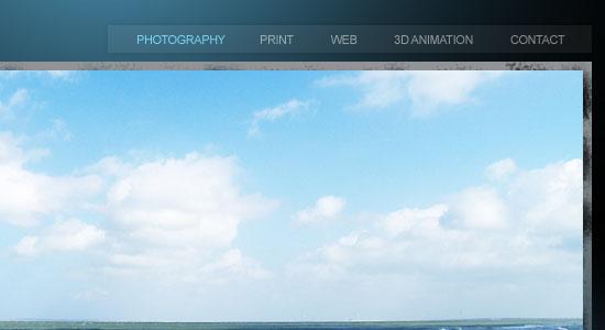 Full Photoshop Website Design - screen shot.