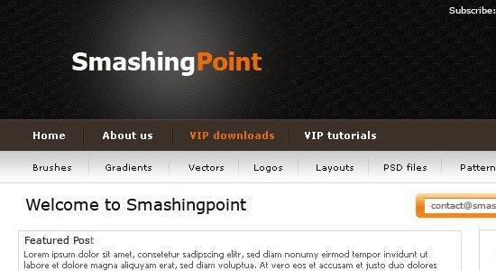 Premium WordPress Photoshop Layout - screen shot.