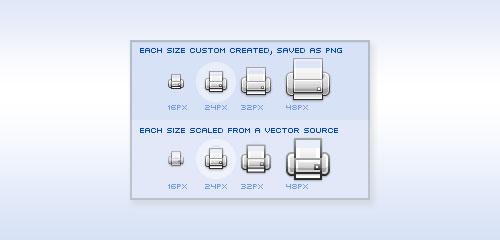 Icon Design: Bitmap vs Vector - screen shot.