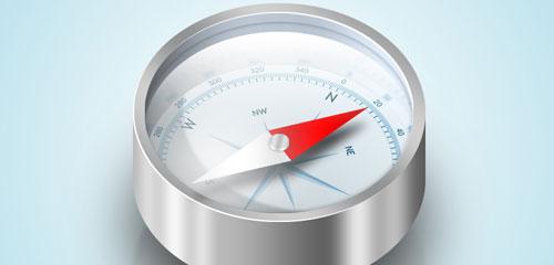 Design a Detailed Compass Icon - screen shot.