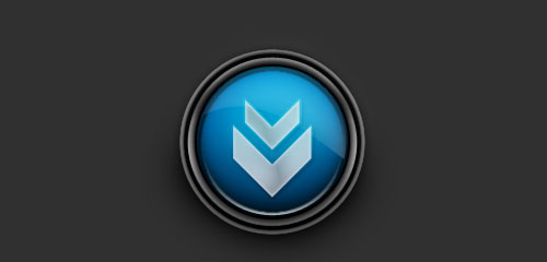 Design a Glossy Download Icon - screen shot.