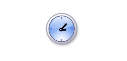 Creating a clock icon - screen shot.