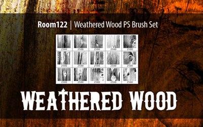 Weathered Wood Photoshop Brushes - screen shot.