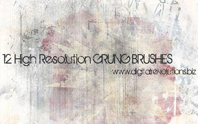Grunge Photoshop Brushes - screen shot.