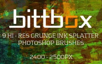 Grunge Ink Splatter Brushes - screen shot.