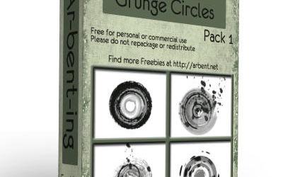 Grunge Circle Photoshop Brush Pack  - screen shot.