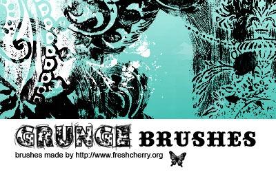 Grunge brushes 04 - screen shot.