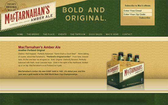 MacTarnahan's Brewing Company - screen shot.