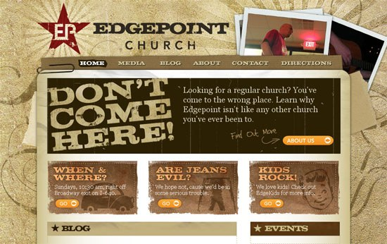 Edgepoint Church - screen shot.