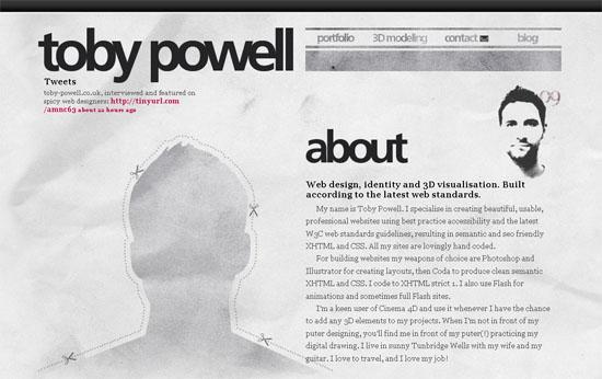 toby-powell.co.uk - screen shot.