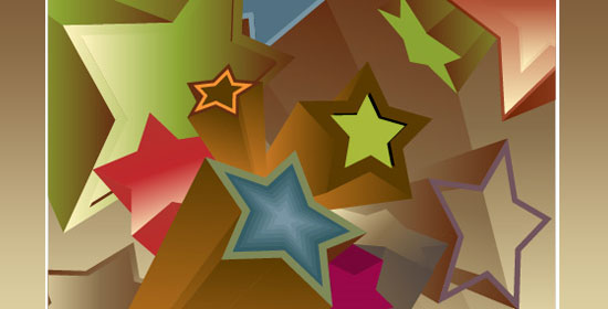 How to Make 3D Vector Vintage Stars - preview.