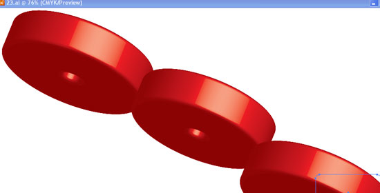 Make a 3d Red Blood Cell Button - preview.