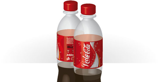 3D Objects and Transparencies to Make a Vector Cola Bottle Design - preview.